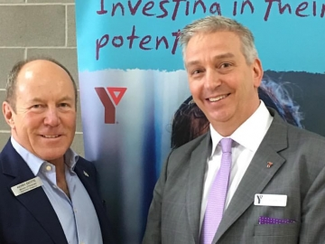 Meeting YMCA's Northern Alberta President Nick Parkinson at Celebration and Award evening - April 24, 2017