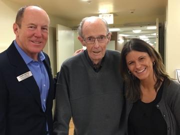 Visiting with seniors at Christmas