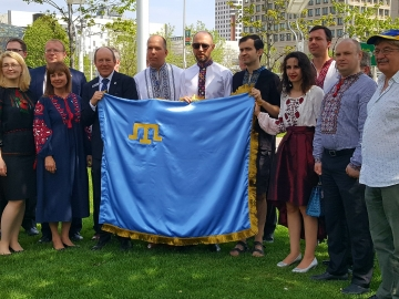 Gathering at Ottawa City Hall marking the 73rd anniversary of the Crimean Tatars - May 18, 2017