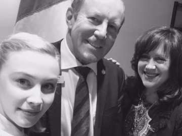 Actra on Parliament Hill - Kerry Diotte with Canadian Actresses Sarah Gadon Ellen David