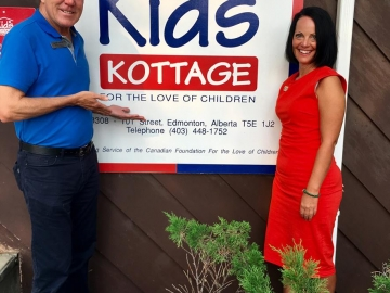 At the amazing Kids Kottage Foundation with executive director Janine Fraser - August 14, 2018