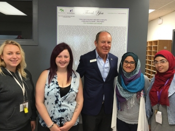 Visiting the Boys & Girls Club Edmonton a Canada Summer Jobs Recipient
