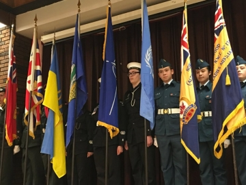 Cadets at the Volunteer Appreciation and 70th Anniversary Banquet for Norwood Legion Branch No. 178