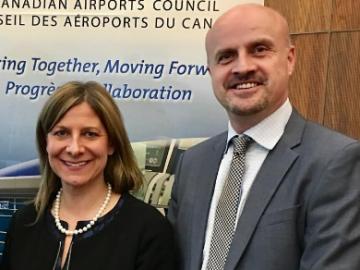 Meeting Edmonton Airport Representatives at the Canadian Airports Council event - April 5, 2017
