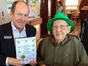 Celebrating Carl Hoculak's 100th Birthday at St. Michael's Health Group - Mar. 17, 2017