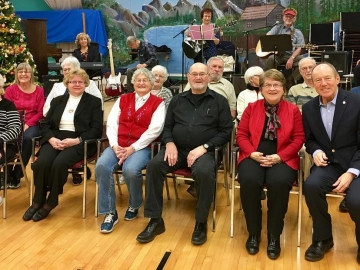 Celebrating December birthdays at the North West Edmonton Seniors Centre - Dec 1 2017