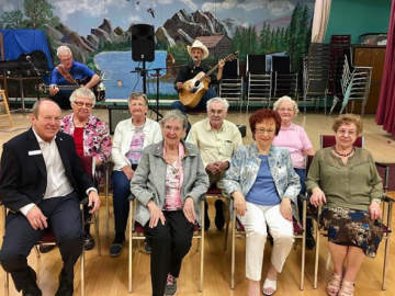 Celebrating May birthdays at the North West Edmonton Seniors Activity Centre - May 5, 2018