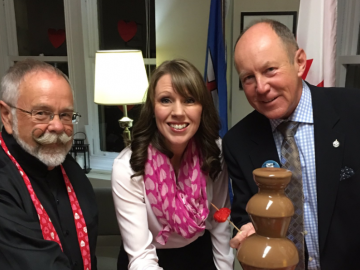 Celebrating Valentine's Day on the Hill with MP Martin Shields