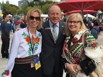 Celebration of Ukraine's 25th Anniversary of independence at Churchill Square