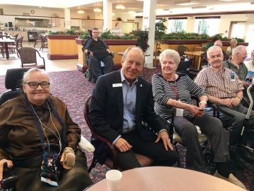 Chatting with residents at Rosedale at Griesbach - Oct 20, 2017 3