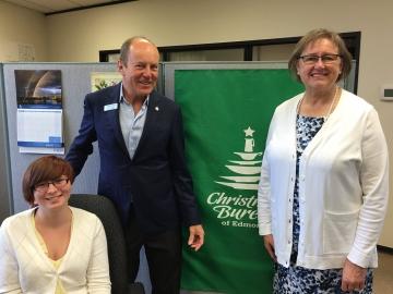 Visiting the Christmas Bureau a Canada Summer Jobs Recipient