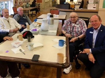 Coffee visit at the Kipnes Centre for Veterans - Sept. 22, 2017 2