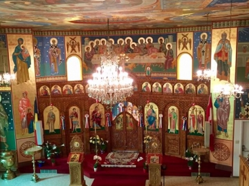 Visiting Edmonton's historic Romanian Orthodox Church St. Constantin and Elena - April 27, 2017