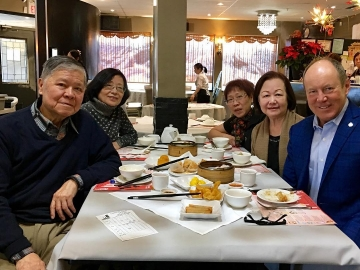 Enjoying Dim Sum at Urban China restaurant - Jan 7, 2018