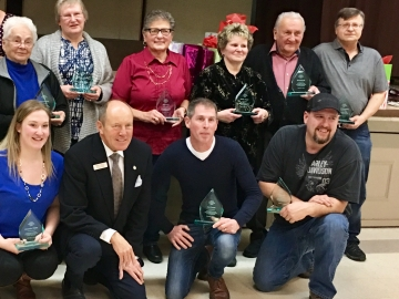 Winners of Area Council 1 Volunteer Awards