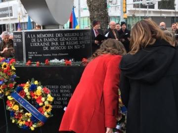 Holodomor commemoration at Edmonton City Hall