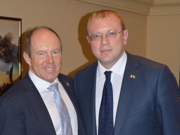 Kerry Diotte & Ambassador Andriy Shevchenko