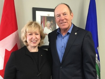 Kerry Diotte with former PM Kim Campbell and founding principal of the Peter Lougheed Leadership College