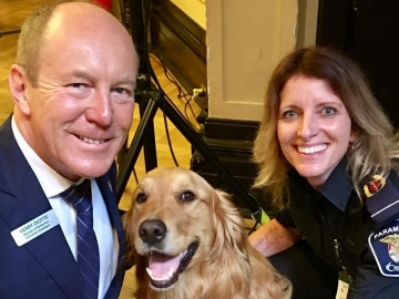 Meeting Max the Therapy Dog at the Paramedics on the Hill Event - May 29, 2017