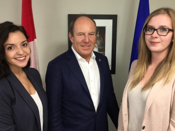 Meeting with Carley Casebee and Danika Shay Representatives for the Canadian Alliance of Student Associations
