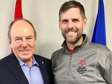 Meeting with Special Olympics Alberta President Johnny Byne - Dec 1, 2017