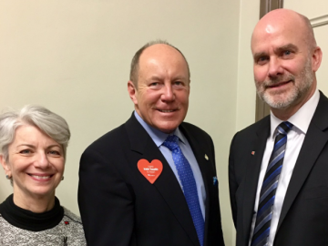 Meeting with representatives from the Heart and Stroke Foundation
