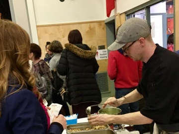 Attending the Mt. Royal Elementary School Culinary Cook-off fundraiser - April 22, 2017