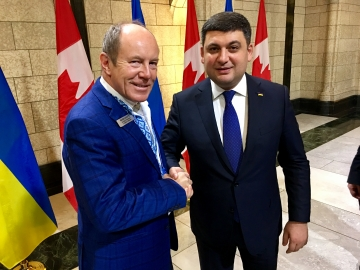 Prime Minister Volodymyr Groysman and Kerry Diotte, MP - Oct. 31, 2017