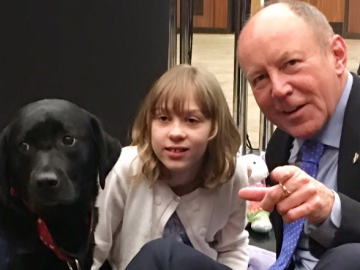 Meeting Sienna and her seizure-detecting dog Jedi at the Canadian Foundation for Innovation event
