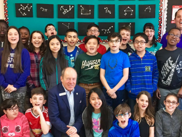 Talking politics with grade 6 students at St. Philip school - April 28, 2017