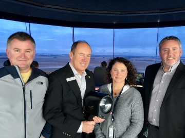 Touring NAV Canada's Edmonton tower.  - September 28, 2018