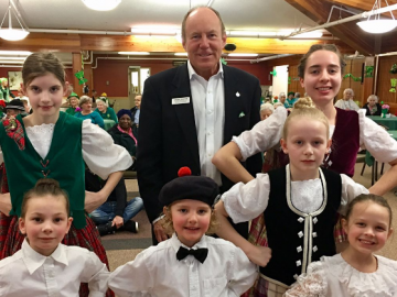 Highland dancers at Virginia Park Lodge's St Patrick's Day event - Mar. 17, 2017