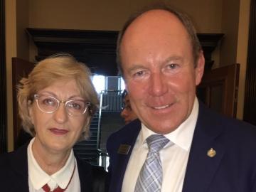 With Croatian Ambassador to Canada Marica Matković