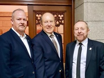 With Spirit of Edmonton reps - Nov 24, 2017