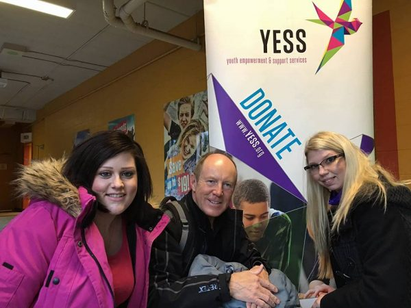 Kerry with YESS' Homeless for a Night participants