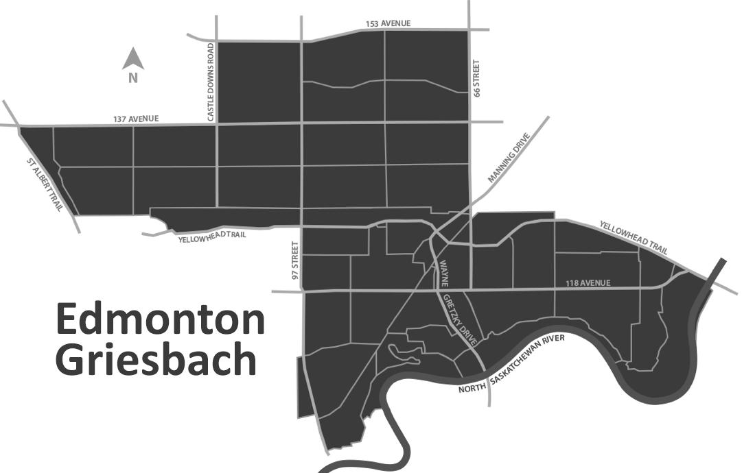 Edmonton-Griesbach Map