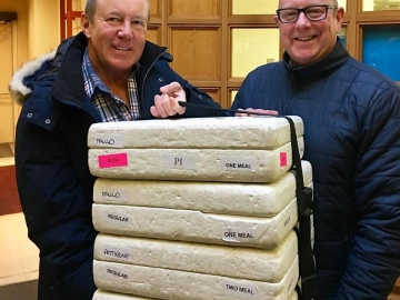 Glad to help deliver with Edmonton Meals On Wheels to seniors in my riding of Edmonton Griesbach with organization board member and lawyer Michael Kirk -January. 23, 2019