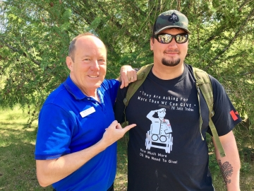 At the Canadian Walk for Veterans at Rundle Park. Glad to meet veteran Brock Blaszczyk - June 3, 2018