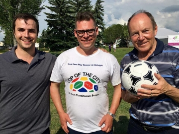At the Top of the City 36 Hour Continuous Soccer Game at Evansdale Community League - June 23 2018