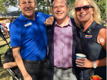 At the United Conservative Party Edmonton Pride Breakfast with UCP leader Jason Kenny - June 10, 2018