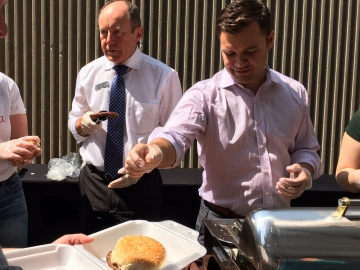 BBQ Fundraiser at the Lord Elgin - Serving Burgers with Matt Jeneroux, MP
