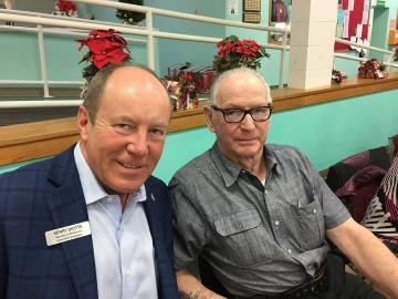 Celebrating birthdays at the North West Edmonton Seniors Society - Jan 5, 2018