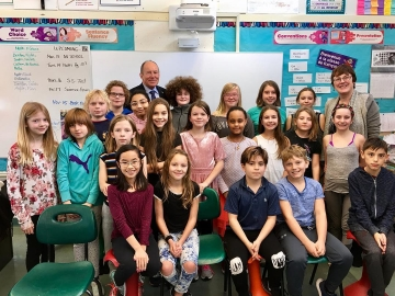 Chatting with students at Virginia Park Elementary - Nov. 14, 2017