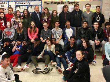Civics talk at Major General Griesbach School - Oct 13, 2017