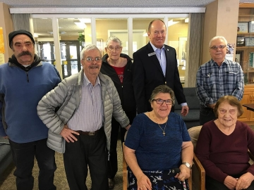 Coffee chats at Piazza Italia Seniors' Residence - November 16, 2017