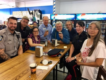 Coffee with the Cops at Food Master store in Edmonton Griesbach - August 3, 2017