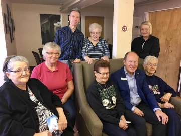 Discussing politics with residents at Calder Place - Oct 12, 2017