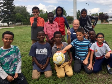 Excellent checking out the good work done by the Edmonton Mennonite Centre for Newcomers at their summer camp - July 24, 2018