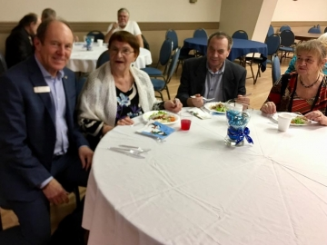Glad to bring greetings to residents and staff at St. Josaphat's Senior Citizens Residence Christmas dinner - December 17, 2018