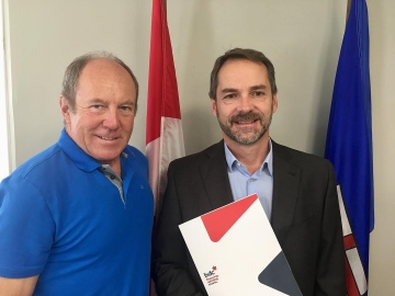 Glad to have meeting with Business Development Bank of Canada (BDC) Alberta North VP Todd Tougas - July 27 2018